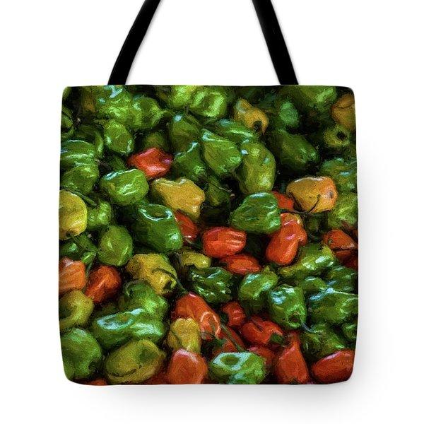 Peppers 4 Tote Bag by Travis Burgess