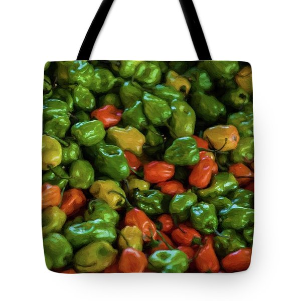 Tote Bag featuring the photograph Peppers 5 by Travis Burgess