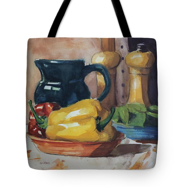 Peppers And Jug Tote Bag
