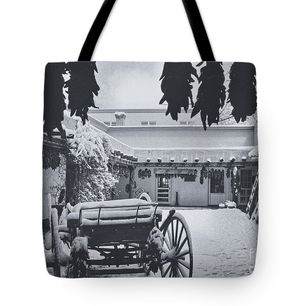 Peppers And Snow Tote Bag