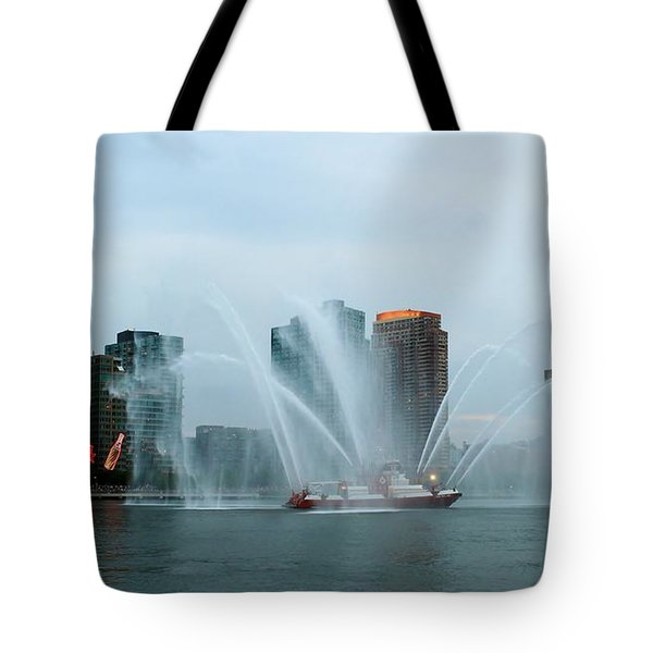 Pepsi Sign And Fdny  Tote Bag by Catie Canetti