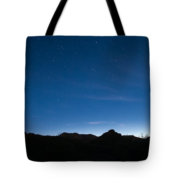 Tote Bag featuring the photograph Peralta Trail At Sunrise by Monte Stevens