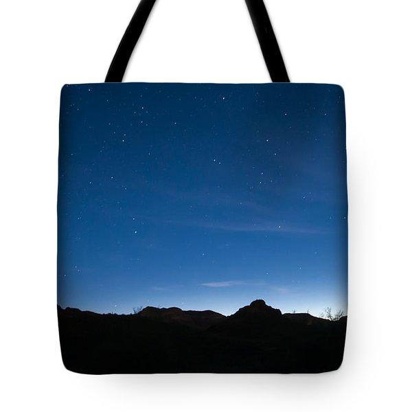 Peralta Trail At Sunrise Tote Bag