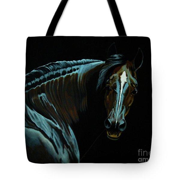 Percheron Mare In The Moonlight Tote Bag