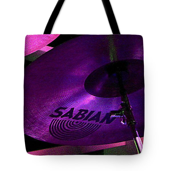Tote Bag featuring the photograph Percussion by Lori Seaman