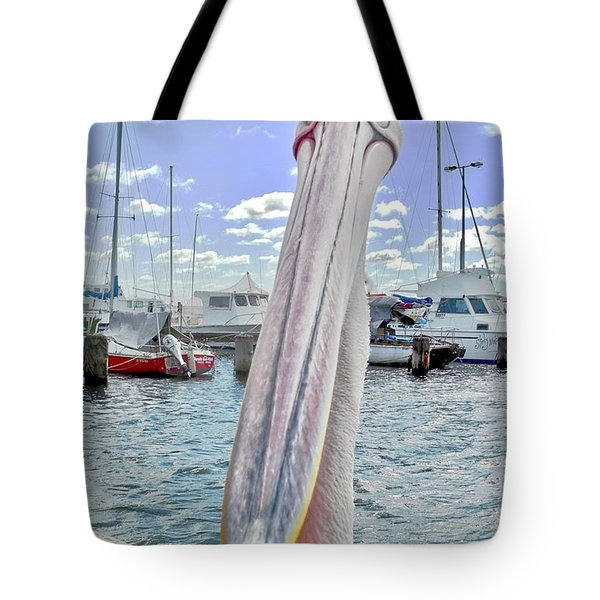Percy The Pelican Tote Bag