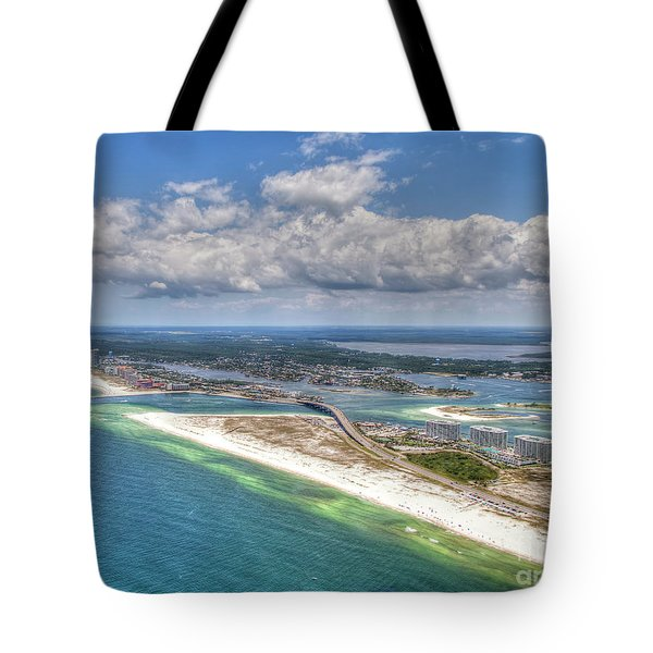 Tote Bag featuring the photograph Perdido Pass Aerial 3029 by Gulf Coast Aerials -