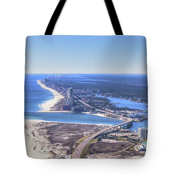 Tote Bag featuring the photograph Perdido Pass Bridge 4319 by Gulf Coast Aerials