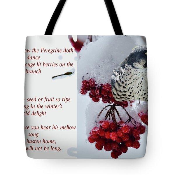 Peregrine Song Tote Bag