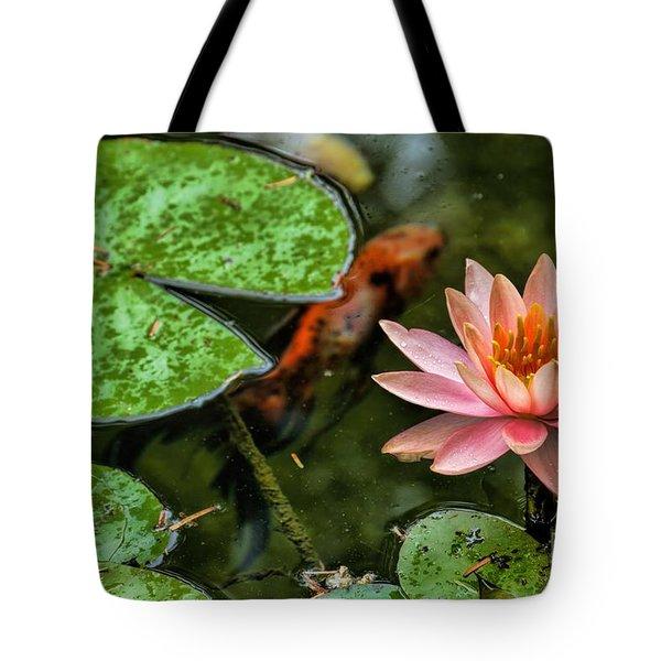 Perfect Beauty And Koi Companion Tote Bag
