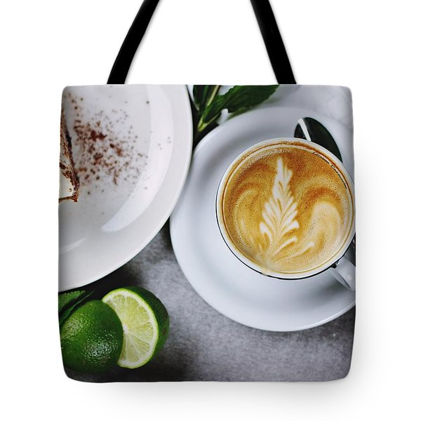 Perfect Breakfast Tote Bag by Happy Home Artistry