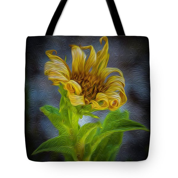 Perfect Curls In Gold Tote Bag