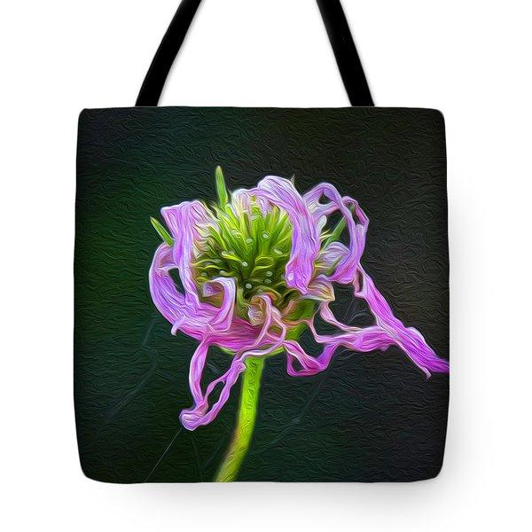 Perfect Curls In Pink Tote Bag