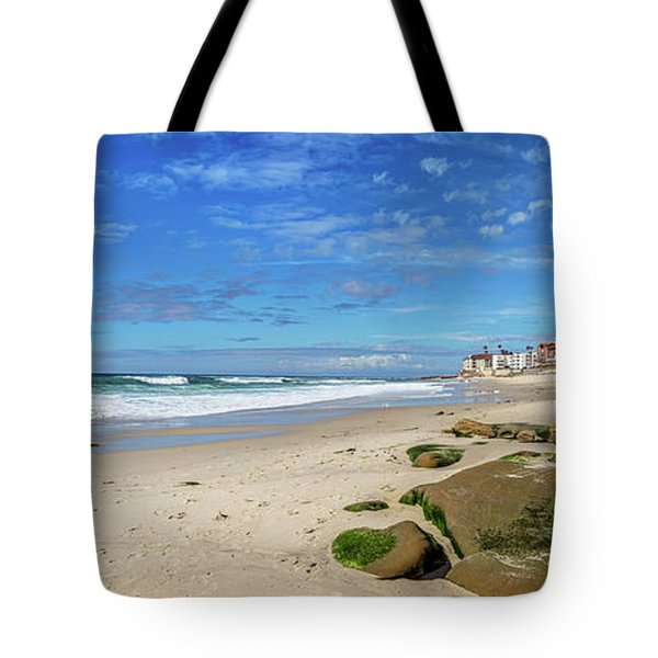 Tote Bag featuring the photograph Perfect Day At Horseshoe Beach by Peter Tellone