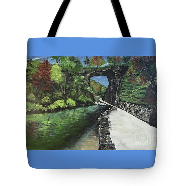 Perfect Fall Day At Natural Bridge Virginia Tote Bag by Katie Adkins