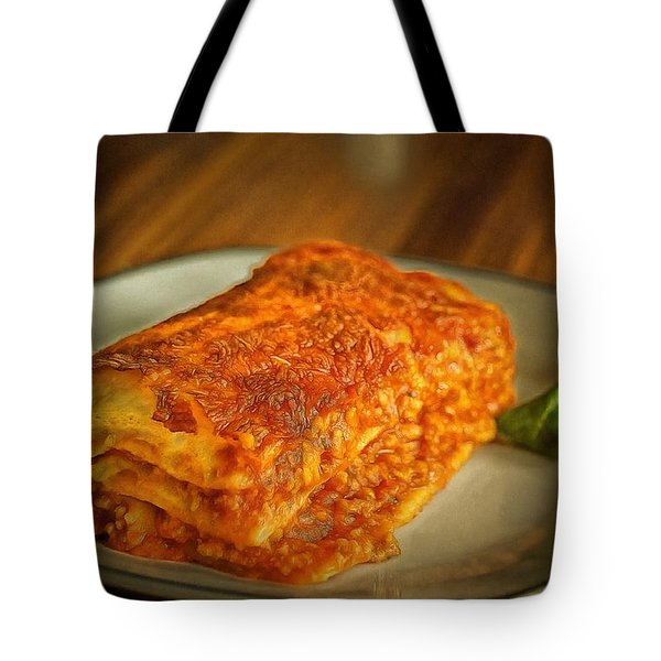 Tote Bag featuring the painting Perfect Food by Harry Warrick