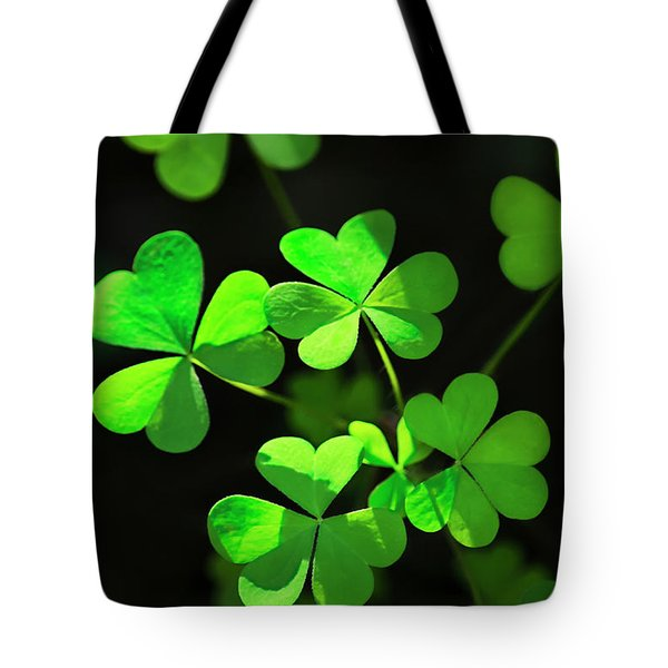 Perfect Green Shamrock Clovers Tote Bag