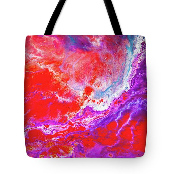 Perfect Love Storm - Colorful Abstract Painting Tote Bag by Modern Art Prints