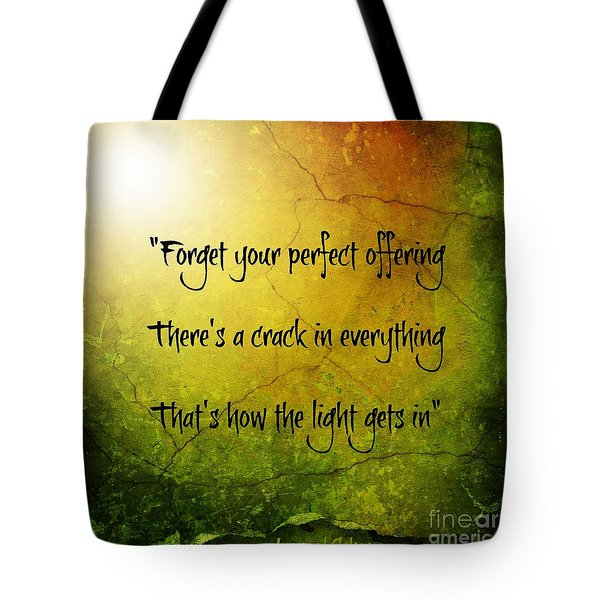 Perfect Offerings Tote Bag