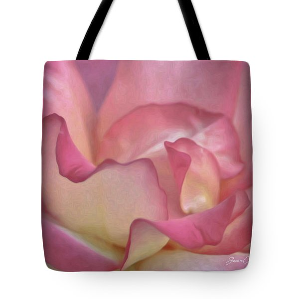Pink Rose Petals Tote Bag by Joann Copeland-Paul