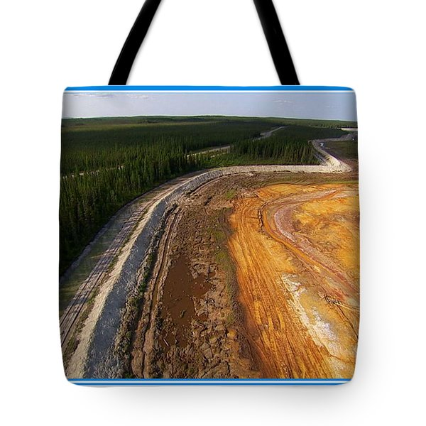 Perfect Poster Of An Ugly Polluted Landscape Of North America Read Canada Tote Bag