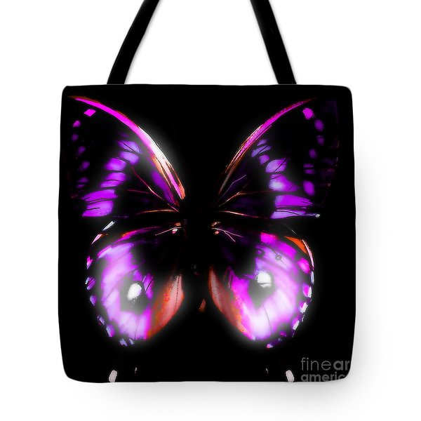 Perfect Purple Butterfly Tote Bag