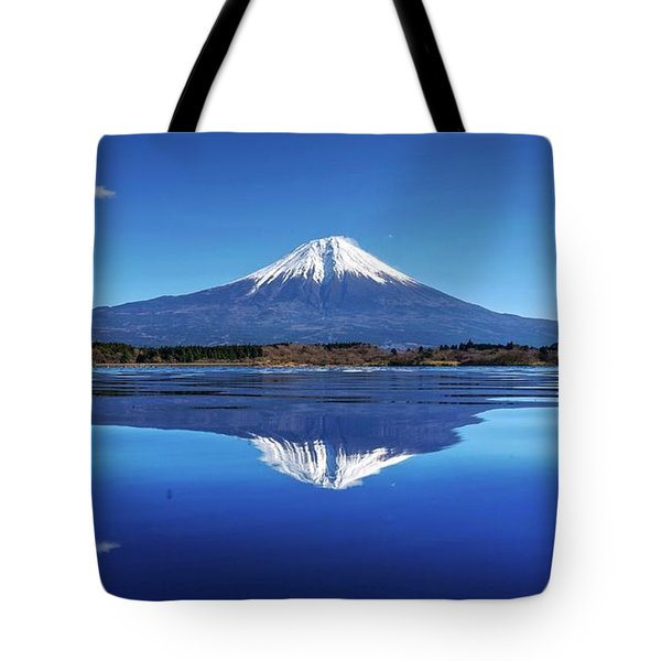 Tote Bag featuring the photograph Perfect Shape, Perfect Blue by Peter Thoeny