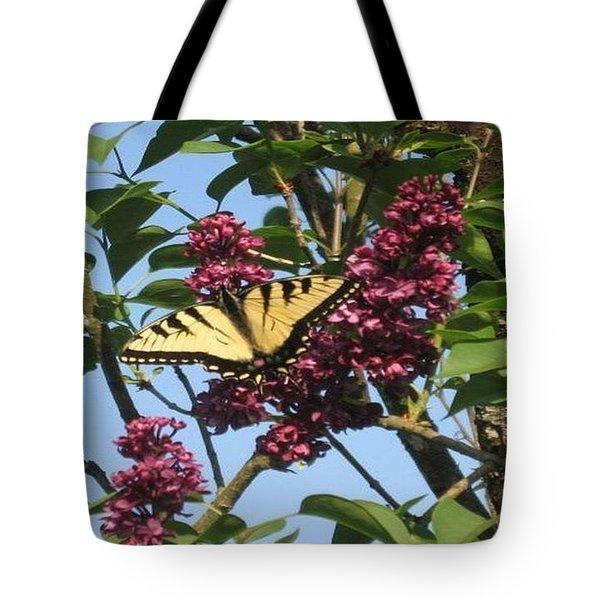 Yellow Swallowtail And Lilac Tote Bag