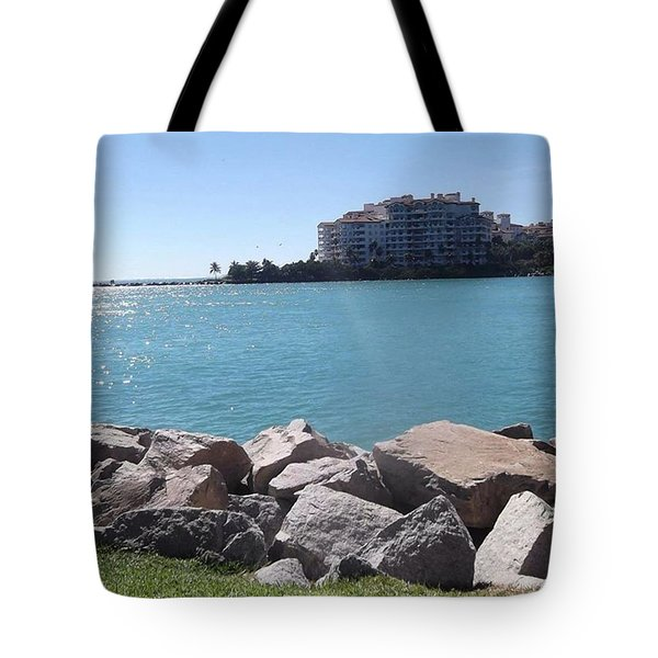 Perfect Weather Back In Miami In Tote Bag