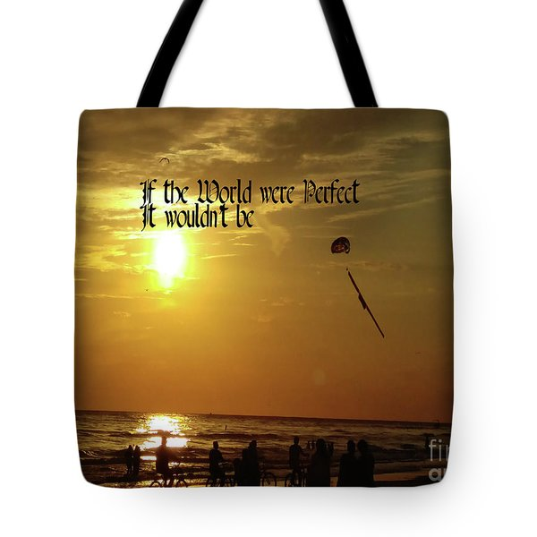 Perfect World Tote Bag by Gary Wonning