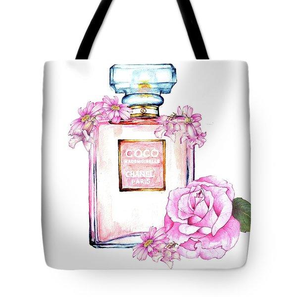 Perfume Florals Tote Bag