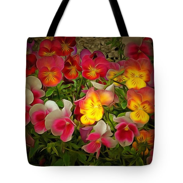 Radiance Pansies Tote Bag