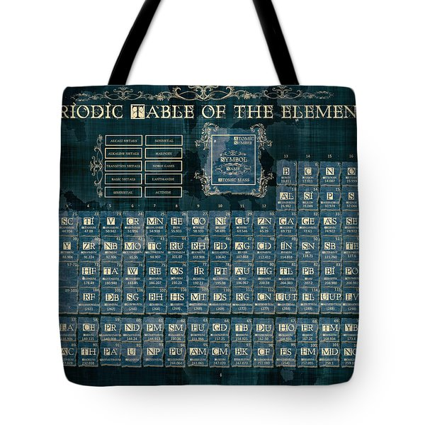 Periodic Table Of The Elements Vintage 4 Tote Bag
