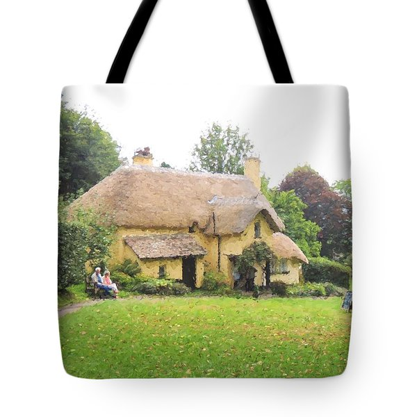 Periwinkle Cottage II Tote Bag