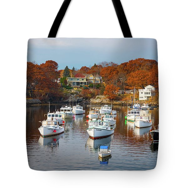 Tote Bag featuring the photograph Perkins Cove by Darren White