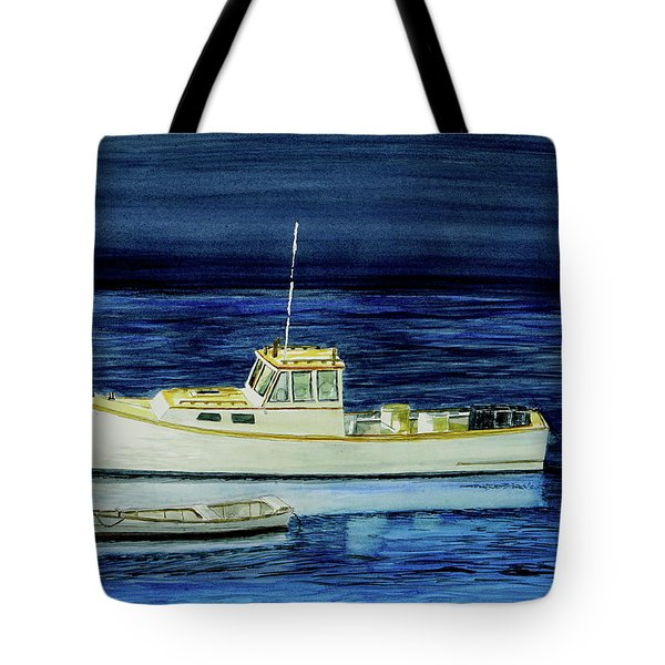 Perkins Cove Lobster Boat And Skiff Tote Bag