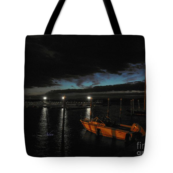 Perkins Pier Sunset Tote Bag