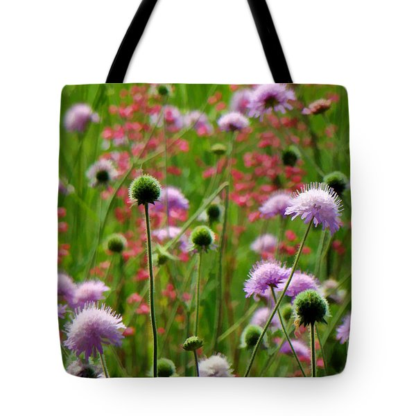 Perky Chives Tote Bag