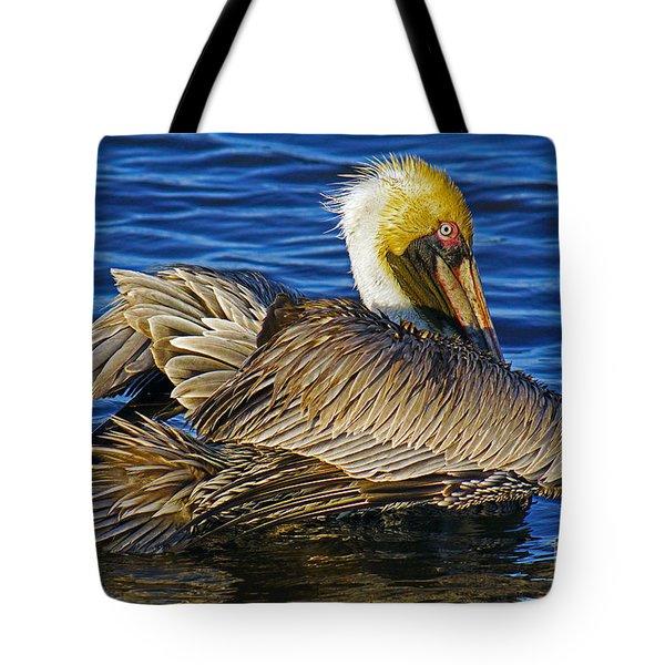 Perky Pelican Tote Bag by Larry Nieland