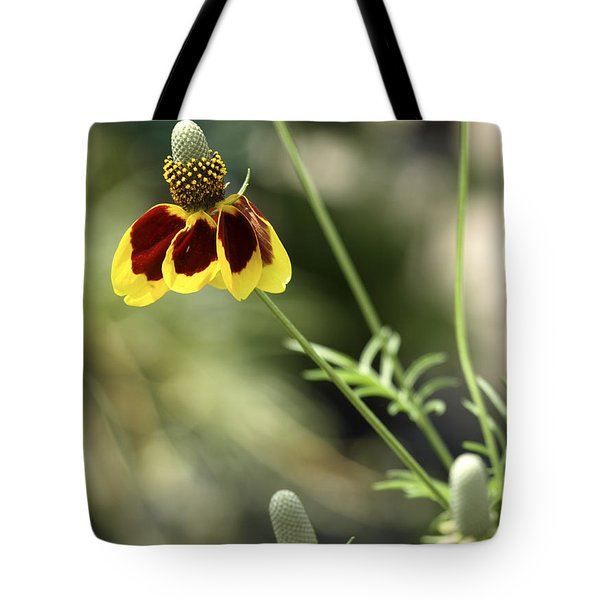 Perky Yellow Tote Bag by Barbara Middleton