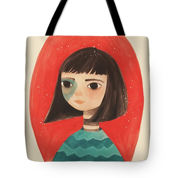 Permanent Contemplation Tote Bag by Carolina Parada