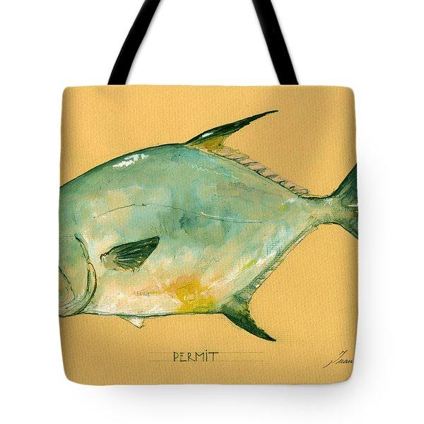 Permit Fish Tote Bag