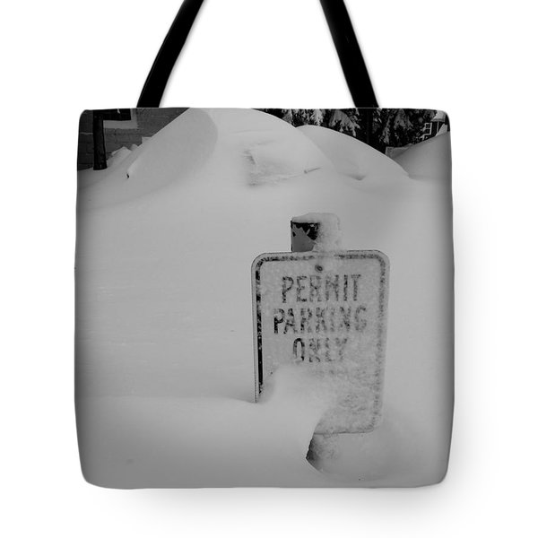 Permit Parking Tote Bag