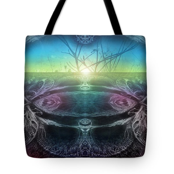 Perpetual Motion Landscape Tote Bag by Otto Rapp