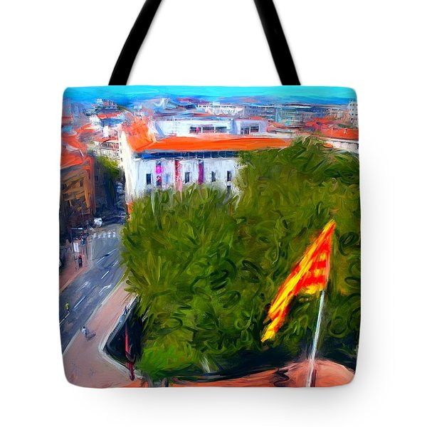 Perpignan With Catalan Flag Tote Bag by Gerhardt Isringhaus