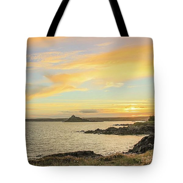 Perranuthnoe At Sunset  Tote Bag