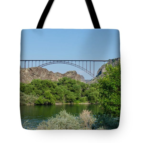 Perrine Bridge At Twin Falls Tote Bag