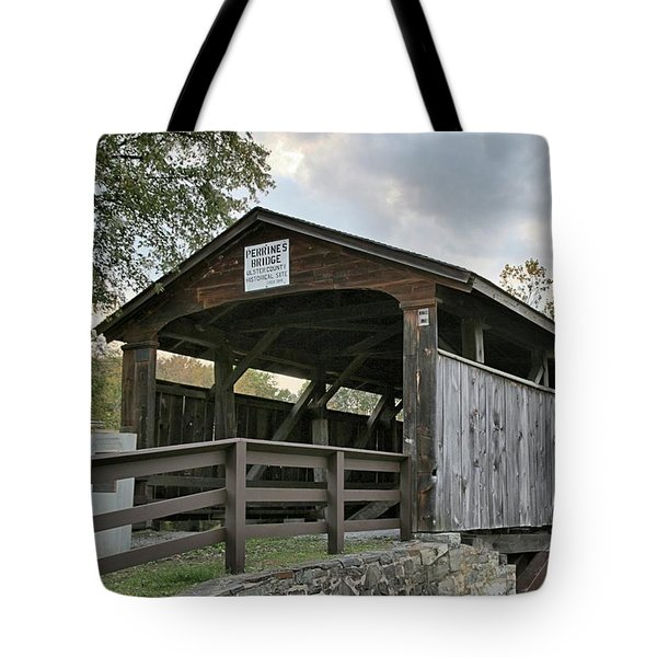 Perrine's Bridge Tote Bag by DJ Florek