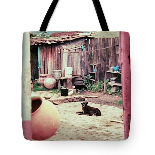 Tote Bag featuring the photograph Perro On The Patio by Charles McKelroy