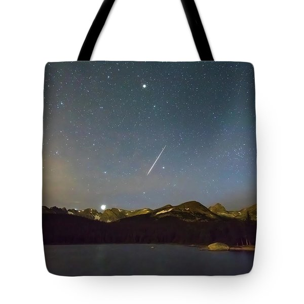 Tote Bag featuring the photograph Perseid Meteor Shower Indian Peaks by James BO Insogna